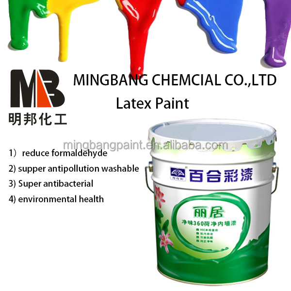 White water base acrylic ceiling latex paint