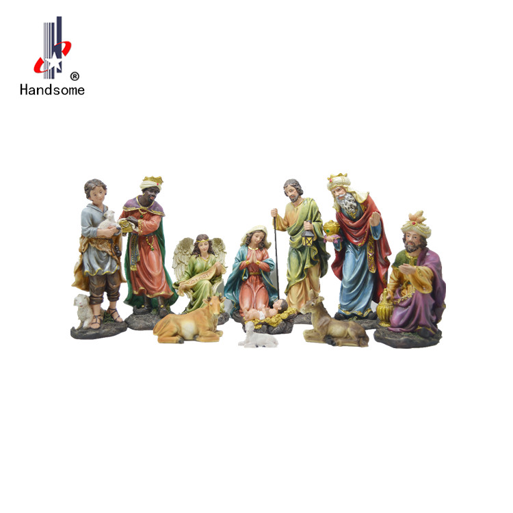 Good quality Indoor  Christmas Decoration Nativity Set Resin Nativity Figurine