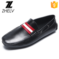 2017 latest fashion style moccasin man genuine leather shoe, casual shoe manufacturer, loafer footwear men casual shoes