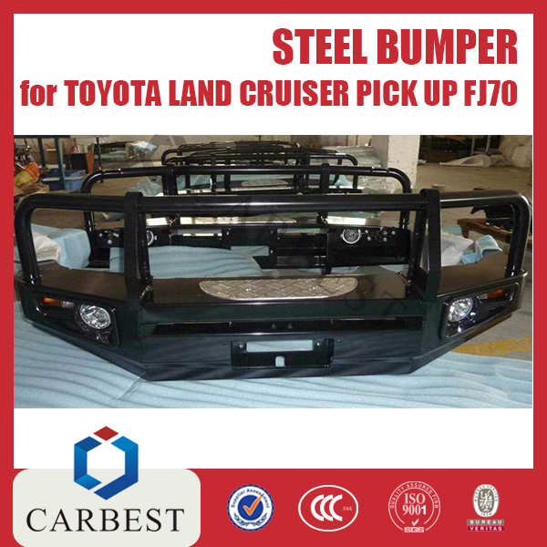 High Quality Black Coated 4x4 Toyota Land Cruiser Pick Up 70 Steel Bumper