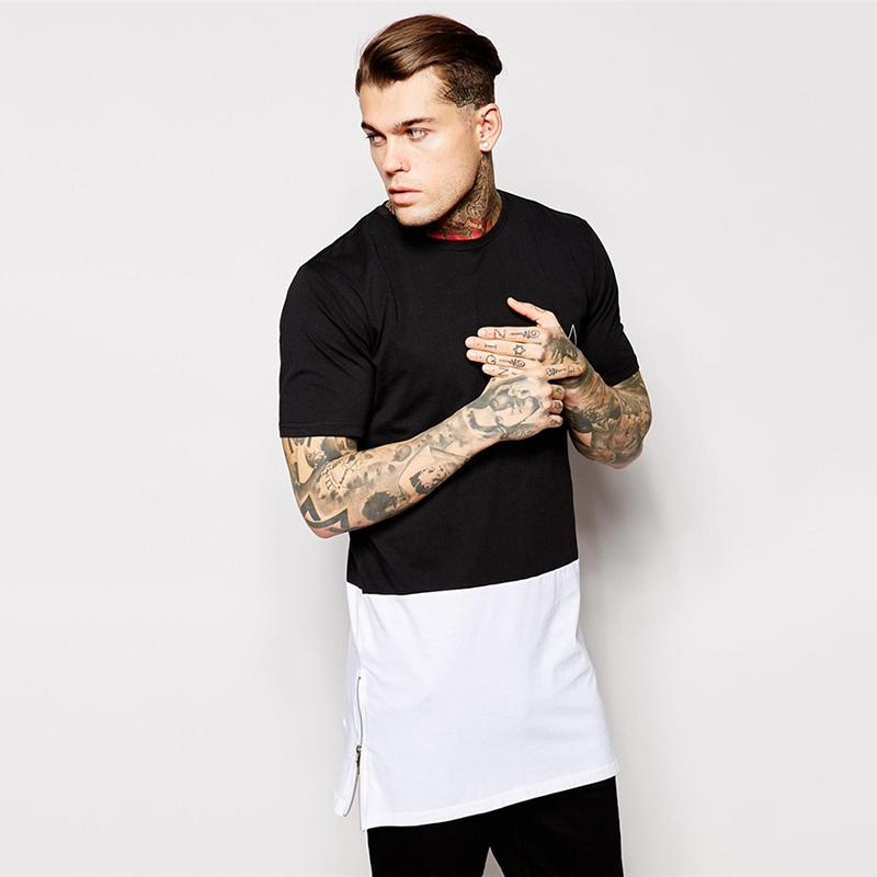 2015 Mens Long Tee Shirt 100% Cotton Short