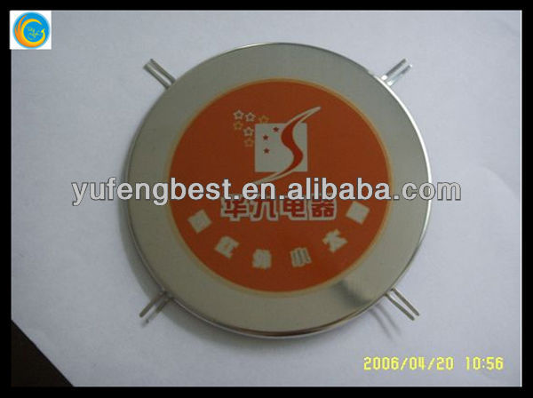 Label placa, placa de metal logotipo