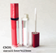 hot selling plastic triangle shaped red empty lipgloss container tube with mirror