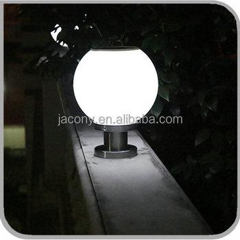 fc3e85f2f Outdoor Solar LED Ball Gate Light Solar Powered Pillar Light With Ball  Feature (JL-