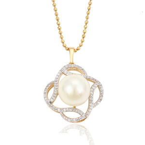 32632 xuping new-designed gold chain pendant, pearl women pendant
