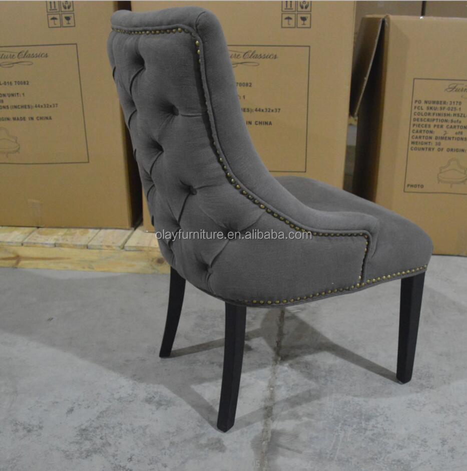 Estilo americano Tuft tela de alta Silla de comedor sillas ...