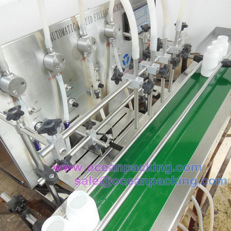 small automatic filling machine liquid with 4 heads 1-1000ml