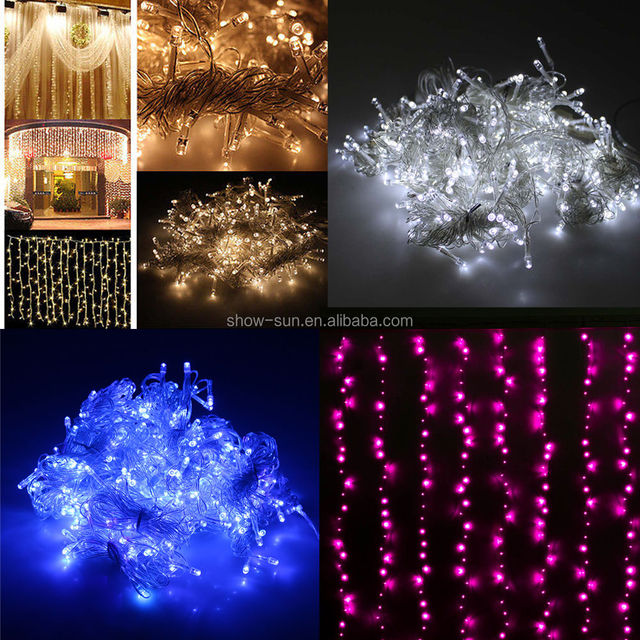 300 LED Fairy Curtains String Light For Xmas Wedding Party Connectable