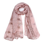 Vintage chinese-inspired scarf hot selling Blue and white China printing shawl manufacturers direct sales