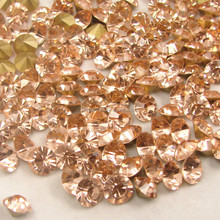 Specialized in full range of big sizes ss45 peach color pointback rhinestone chaton for fashion jeans