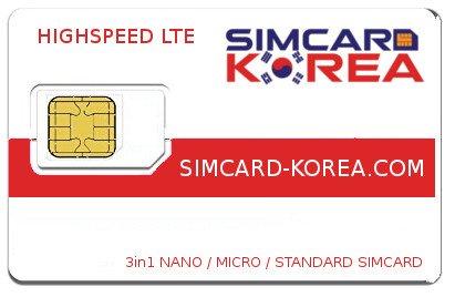 LTE Simcard Korea - Highspeed Surf and make phone calls