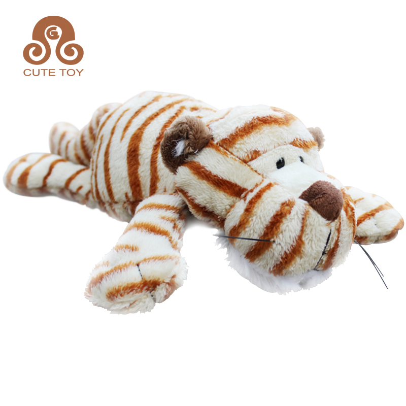 Wholesale Plush Jungle Animal Toy Laydown Tiger Buy Customize