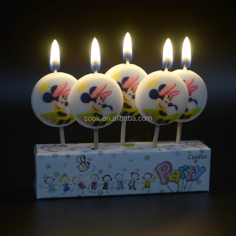 2016 Hot Sale Baby Birthday Party Cartoon Mouse Candle Gift