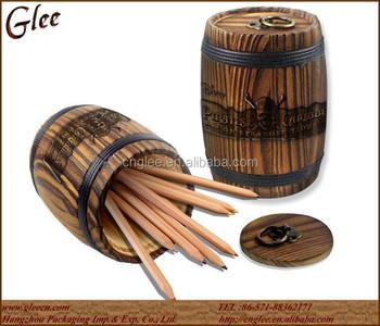 Decorative Mini Wooden Storage Candy Barrel