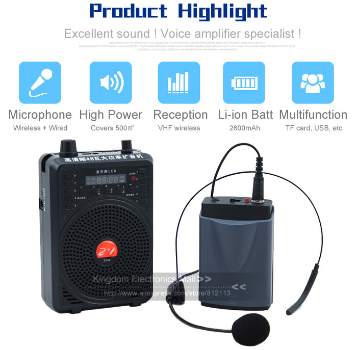 free shipping portable wireless headset microphone teaching speaker voice amplifier megaphone. Black Bedroom Furniture Sets. Home Design Ideas