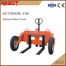 1.2Ton Manual Hydraulic Rough Terrain Pallet Truck for outdoor use