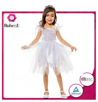 girls cosplay dress white fairy dress kids halloween costumes children angel costumes kids
