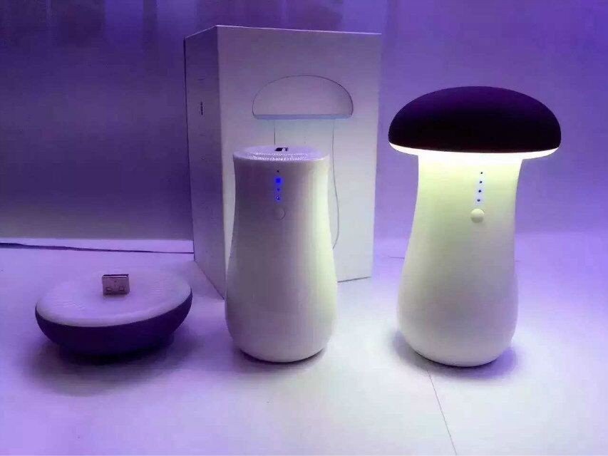 bluetooth speaker with Power Bank of Mushrooms table lamp