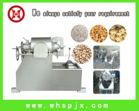 Making popped rice snacks with puffed rice making machine
