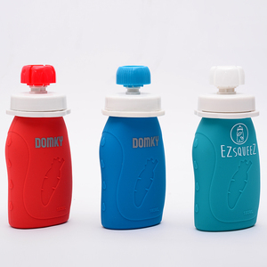 China factory supplier Reusable baby food silicone spout pouch bottle