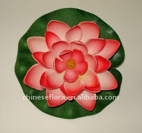 8 inch leaf 7 inch bloom artificail floating lotus