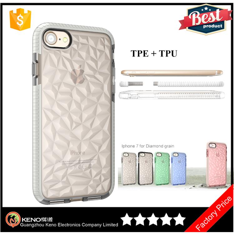 Hot New releases TPU TPE cushion bumper Crystal Diamond rock phone case For iPhone