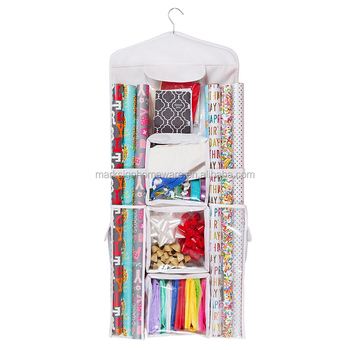 Over Door Multipurpose Storage Bag U0026 Wrapping Paper Organizer
