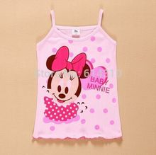 In stock Girls Tanks Baby Girl Summer Wear Tops Cotton Sleeveless Cool Good Quality Atst0003