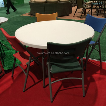 Superior 6 Person Used Plastic Round Folding Table