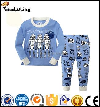 100% cotton robot cotton baby pajamas for children suits pyjamas sleepwear  long sleeve pants pyjama