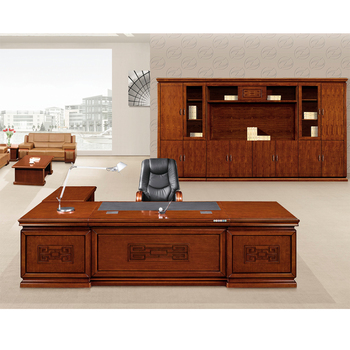 New Design Traditional Executive Desk MDF Office Table With Side Return
