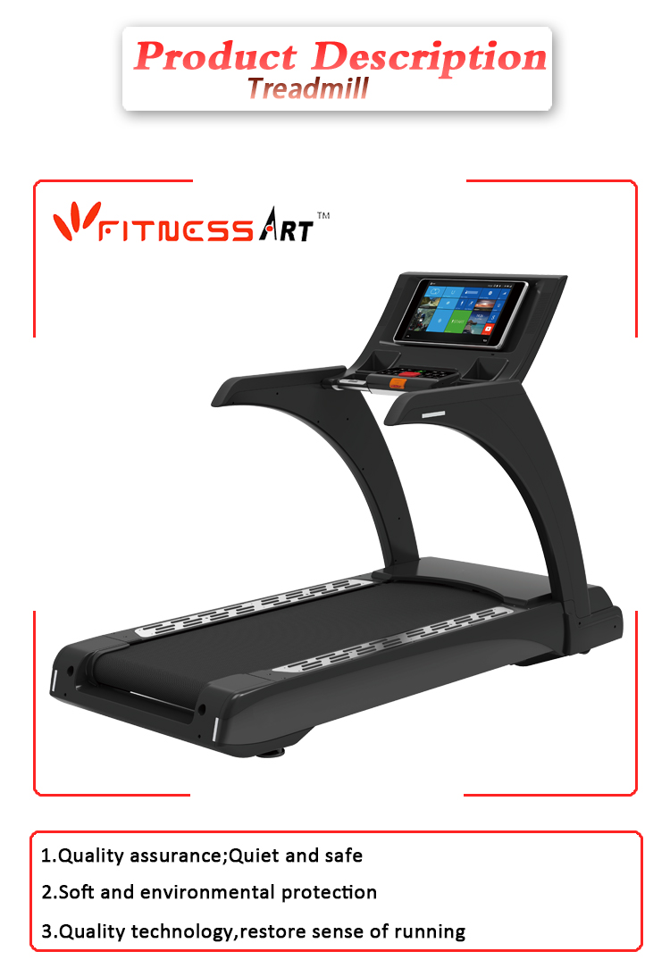 New fitness body fit touch screen treadmill for commercial use