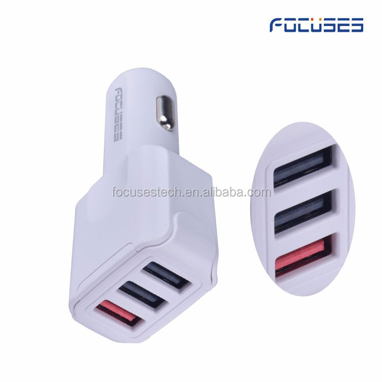 Phone Parts USB Home Car Charger For Sale Portable Mobile Battery 3 Port Intelligent Smart Car Battery