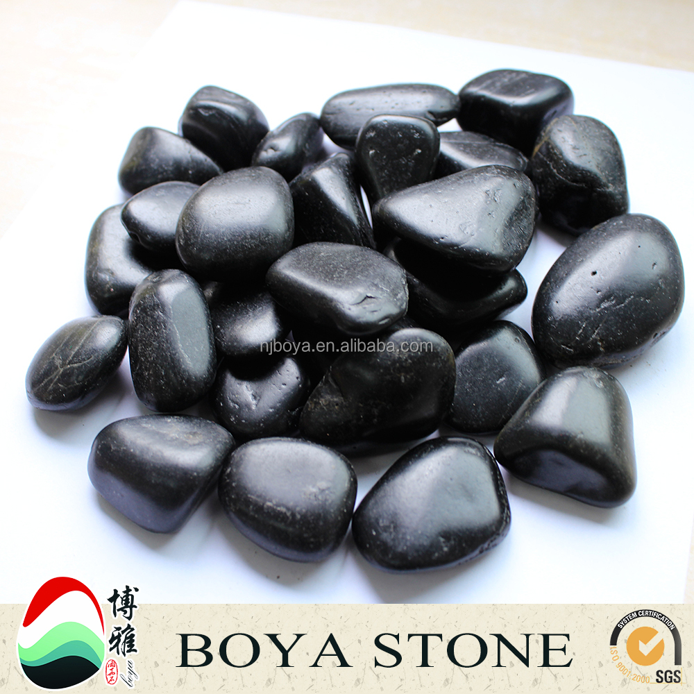 Black Natural Pebble Stones,Stone Polishing River Rock For ...
