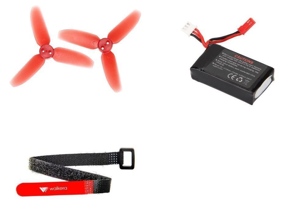 [QTY: 1] Rodeo 110-Z-21 Li-Po Battery 7.4V 850mAh 25C 2S 2 Cell Power Pack Lithium Polymer Fuel Source [QTY: 1] 110-Z-01 Three Blade Propellers Props Main Rotor Blades Parts 70mm Diameter [QTY: 1] 110