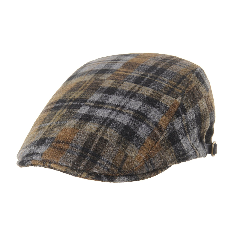 WITHMOONS Winter Wool Blend Tartan Check Flat Cap Ivy Hat LD3563