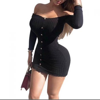 New Hot sale Off Shoulder One-piece Dress women online shopping 261821