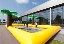 Factory supply inflatable water volleyball court juegos inflatable for volleyball game