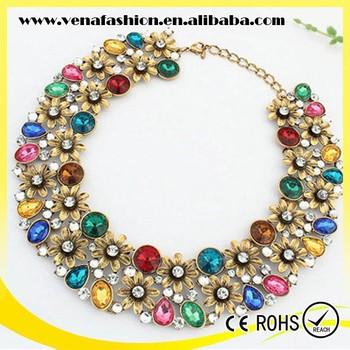 rhinestone funky wholesale chunky bubblegum necklace buy