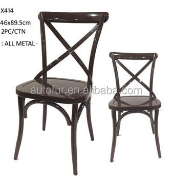 X Back /Cross Back Dining Chair French Bistro Style