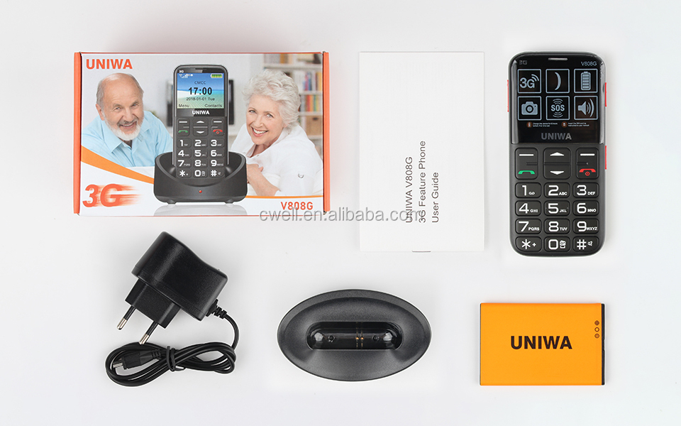 2.31 inch Big Screen WCDMA850/1900/2100MHz Senior Cradle Feature Mobile Phone