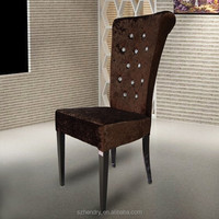 Dark fabric dining chair/high back chair