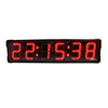 Ganxin Wholesale 6 Digits large led digital sports red marathon race clock double sided wall clocks