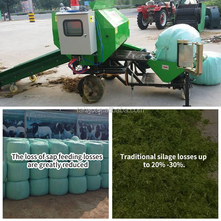 무역 보증 stationary mini grass hay 포장기 used