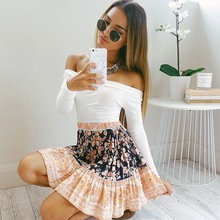 Striped elegant halter fashion tops bow chiffon blouse shirt Sexy off shoulder Women cool crop tops clothing
