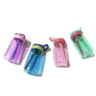 Cheap Promotional Gifts Korean Style Kids Student Plastic Drinking Water Bottles with Straw