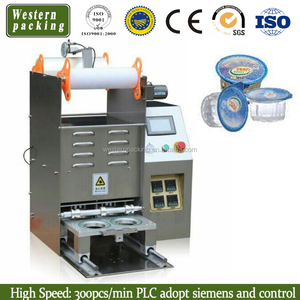 Automatic cup tray sealing machine with coding machine