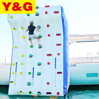 2019 New Design Commercial Air Tight Inflatable Water Rock Climbing Wall For Adult