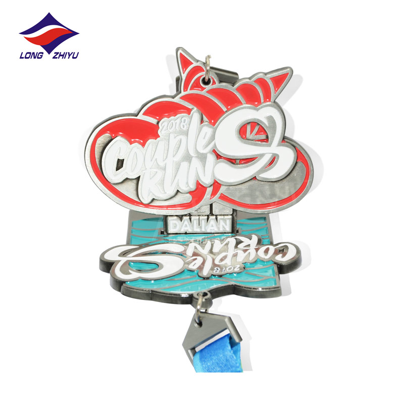 Longzhiyu 12 Years Manufacturer High Quality Professional Custom Combination Medals Soft Enamel <strong>Metal</strong> with Printing Ribbon