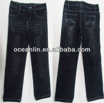 Embroidery Design Girls Jeans